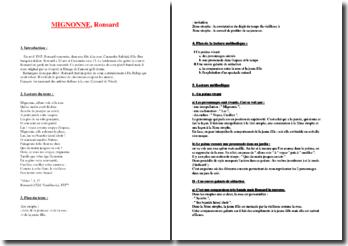 Poème : Mignonne de Ronsard