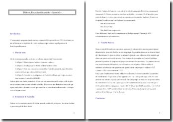 Diderot, Encyclopédie, Article « Autorité »