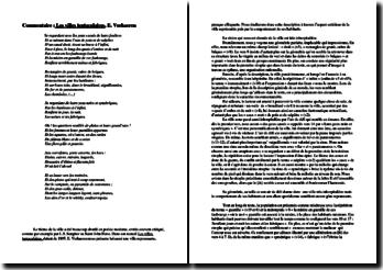 Commentaire : Les Villes tentaculaires, E. Verhaeren