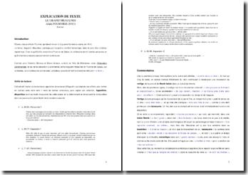 Alain Fournier, Le Grand Meaulnes, Explication d'un extrait