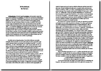 Commentaire du poème « El desdichado » de Nerval
