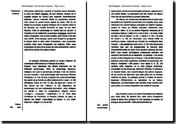 Commentaire : Prologue d'Antigone, de Jean Anouilh