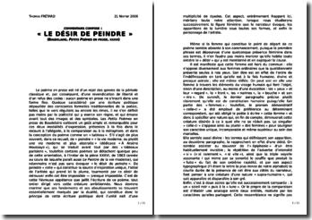 Baudelaire, Le désir de peindre (« Petits poèmes en prose » ou « Le Spleen de Paris »)