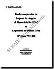 Etude comparative : La peau de chagrin, Le portrait de Dorian Gray