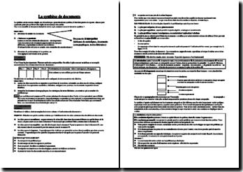 Méthodologie de la synthèse de documents
