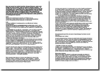 Dissertation à partir d'une citation de Georges Bernanos