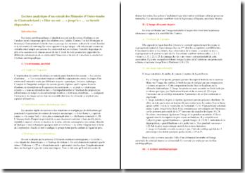 Chateaubriand, Mémoires d'Outre-Tombe Hier au soir - Résumé, présentation de l'auteur et axes de lecture pour commentaire composé