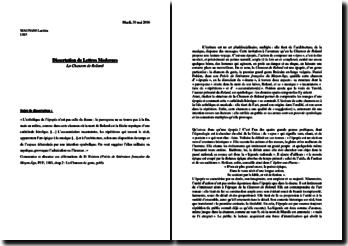 Dissertation sur La Chanson de Roland