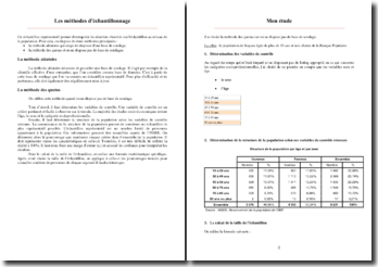 Les méthodes d'échantillonnage : méthode aléatoire et des quotas