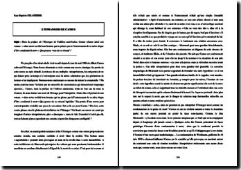 Dissertation sur « L'Etranger » de Camus