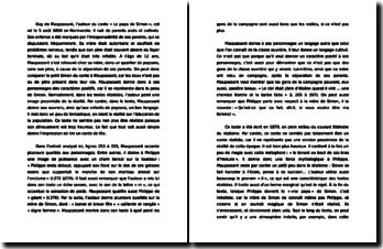 Analyse littéraire : « Le papa de Simon » de Maupassant