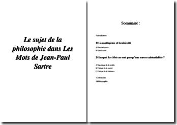 Le thème de la philosophie dans « Les Mots » de Jean-Paul Sartre