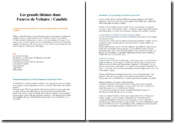 Les grands thèmes dans « Candide » de Voltaire