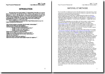 Rapport de projet professionnel : métiers de l'aéronautique