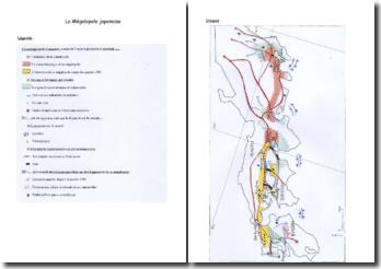 Croquis de Géographie sur la mégalopole japonaise