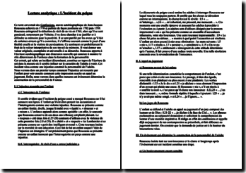 Rousseau, Les Confessions, L'incident du peigne