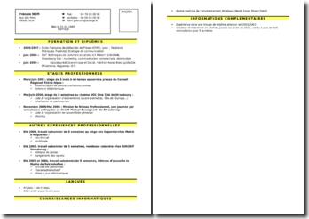 Exemple type de CV
