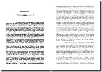 Etude des Livres VII et VIII des Fables de Jean de la Fontaine