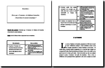Lamartine, L'Automne