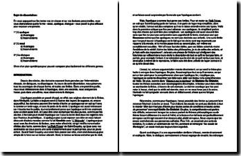 Comparaison des types d'argumentation de l'essai, de l'apologue et du dialogue