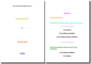 Montesquieu, Lettres Persanes : guide intégral