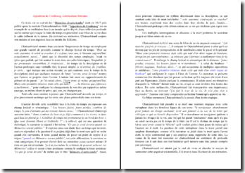 Chateaubriand, Mémoires d'outre-tombe : Apparition de Combourg