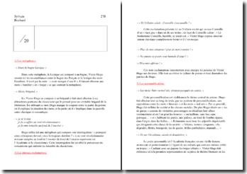 Victor hugo, Les mots : travail préparatoire au commentaire littéraire