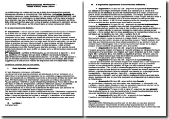 Montesquieu, Lettres Persanes, Usbek à Mirza (Lettre LXXXV)