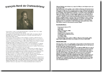 Chateaubriand : sa vie, son oeuvre