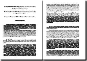 Dissertation sur le Réalisme à partir du roman « Pierre et Jean » de Guy de Maupassant