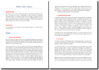 Giraudoux, Electre, Acte II Scène 6