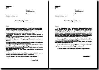 Lettres de motivation de stage : DUT et Licence