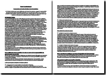 dissertation sur larticle 49 alinéa 3 de la constitution