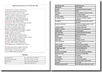 Virgile, Enéide, chant II, vers 771 à 795 et 801 à 804