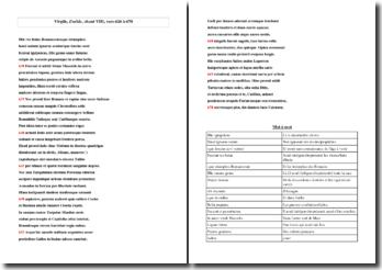 Virgile, Enéide, chant VIII, vers 626 à 670