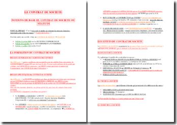 Notions juridiques de base : le contrat de société