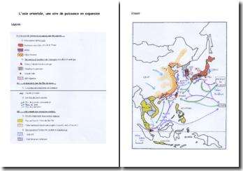 Croquis de géographie sur l'Asie orientale