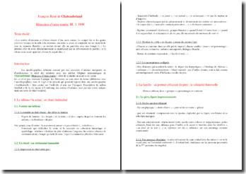 Mémoires d'Outre-Tombe de Chateaubriand, Etude d'un extrait