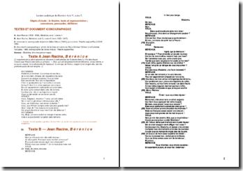 Racine, Bérénice, Acte V scène 5 : Lecture analytique