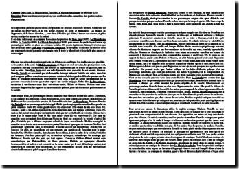 Étude comparative des scènes d'exposition de : Dom Juan, Le Misanthrope, Tartuffe et Le Malade Imaginaire de Molière