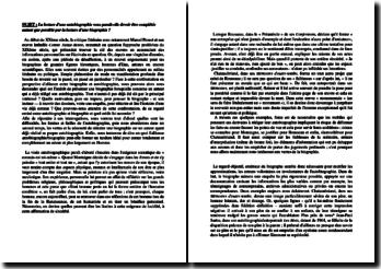Dissertation sur la biographie et l'autobiographie
