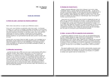 Exemple de fiche de synthèse de TPE