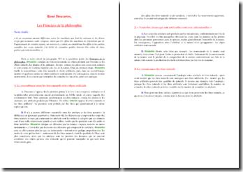 Descartes, Les Principes de la philosophie, (paragraphe 203)