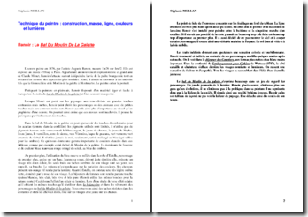 Analyse du style de Renoir à travers le commentaire du bal du Moulin de la galette