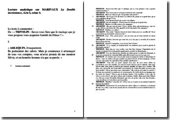 Marivaux, La Double Inconstance, Acte I scène 4