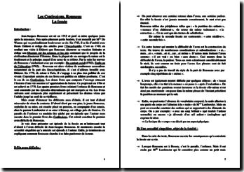 Rousseau, Confessions, Episode de la fessée