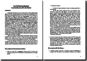 Rousseau, Confessions, Rencontre avec Mme de Warens
