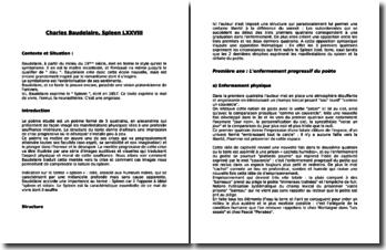 Charles Baudelaire, Spleen et idéal, Spleen 78
