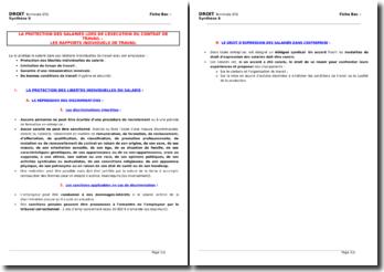 La protection des travailleurs salariés lors de l'exécution du contrat de travail : les rapports individuels de travail