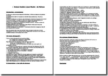 « Oraison funèbre à Jean Moulin » de Malraux